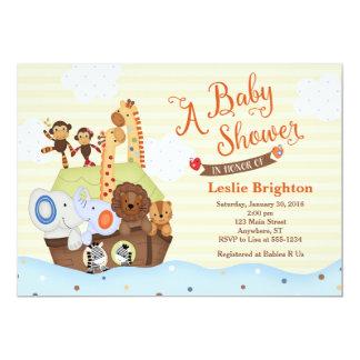 SS Noah/Noahs inbjudan för arkbaby shower