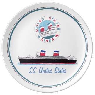 SS United States - Collectible porslin pläterar