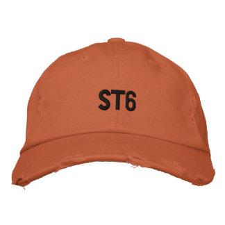 ST6 bedrövad broderad hatt