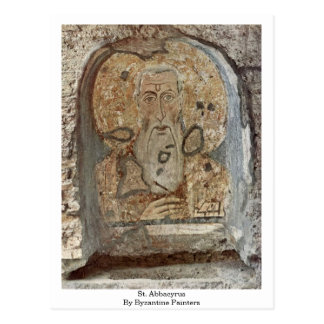 St. Abbacyrus av Byzantinemålare Vykort