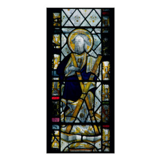 St Andrew med den Saltire kor, britt Poster