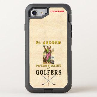 ST ANDREW (skyddshelgon av golfare) OtterBox Defender iPhone 7 Skal