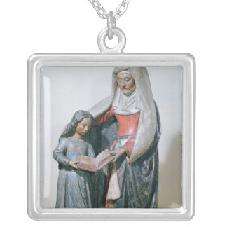 St Anne och oskulden, 1500-30 Silverpläterat Halsband