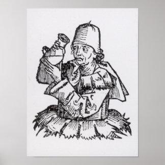St Anthony från 'Liber Chronicarum Poster