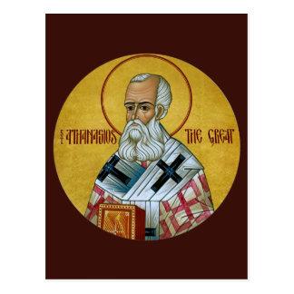 St. Athanasios det underbara bönkortet Vykort