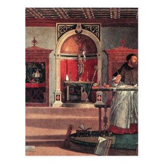 St Augustine i hans studie - Vittore Carpaccio Vykort