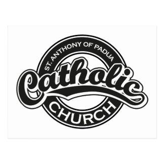 St Augustine katolsk kyrkasvart Vykort