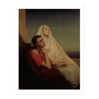 St Augustine och hans morSt. Monica, 1855 Vykort