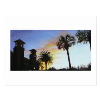 St Augustine på solnedgången Vykort