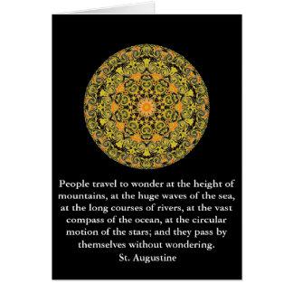 St Augustine reser äventyrcitationstecken Hälsningskort