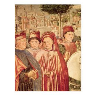 St Augustine som avgår för Milan Vykort