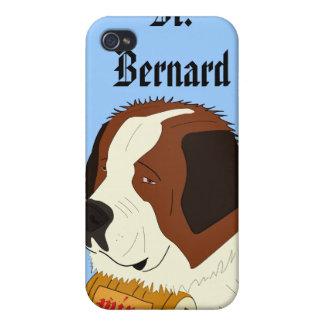 St Bernard med en liten vintrumma - fodra konst iPhone 4 Fodraler