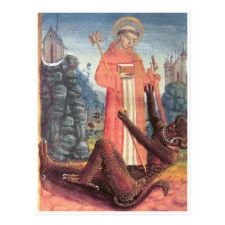 St Bernard övervinner djävulen Vykort