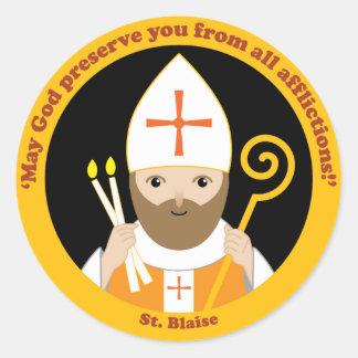 St. Blaise Runt Klistermärke