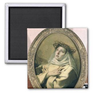 St. Catherine av Siena, c.1746 Magnet