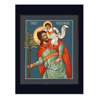 St Christopher bönkort Vykort