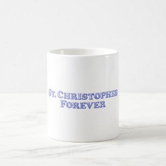 St Christopher för evigt - grundläggande skevmall Kaffemugg