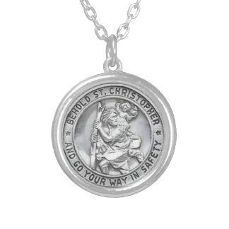 St Christopher HÄNGEHALSBAND Silverpläterat Halsband