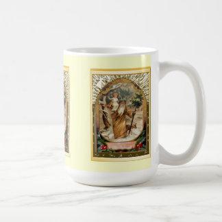 St Christopher som bär barnet Jesus Kaffemugg