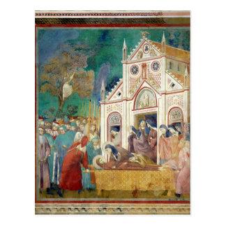 St. Clare omfamnar förkroppsliga av St Francis Vykort