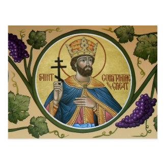 St. Constantine det underbara bönkortet Vykort