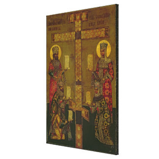 St. Constantine och St Helena Canvastryck