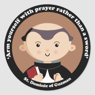 St Dominic av Guzman Runt Klistermärke
