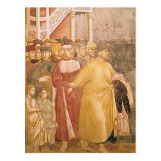 St Francis avsäga sig alla Worldly godor Vykort