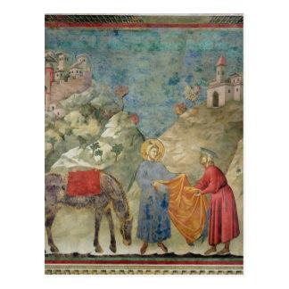St Francis ger hans lag till en främling Vykort