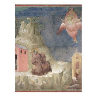 St Francis häleri stigmatana, 1297-99 Vykort