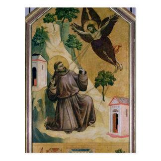 St Francis häleri stigmatana, c.1295-1300 Vykort