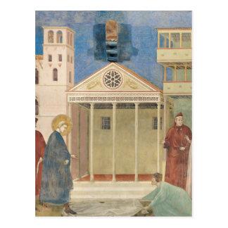 St Francis hedrade vid en enkel man, 1297-99 Vykort