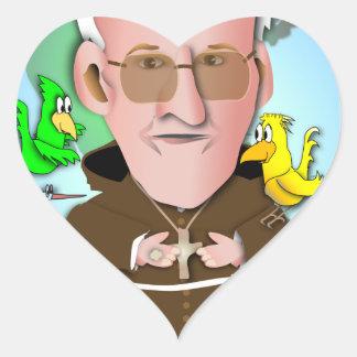 St Francis Hjärtformat Klistermärke
