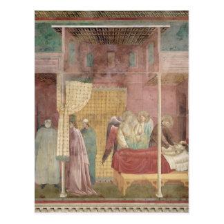 St Francis kurerar den sårada manen från Lerida Vykort