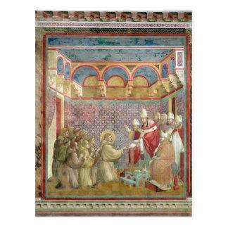 St Francis mottar godkännande Vykort