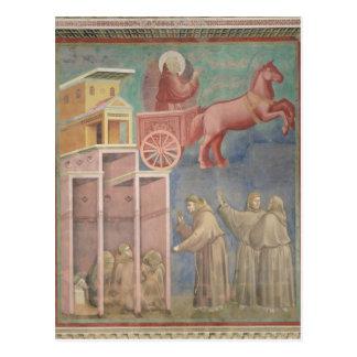 St Francis visas till hans följen Vykort