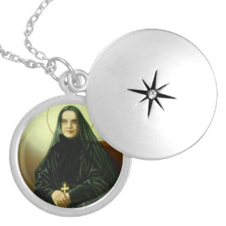 St Francis Xavier Cabrini hänge Silverpläterat Halsband