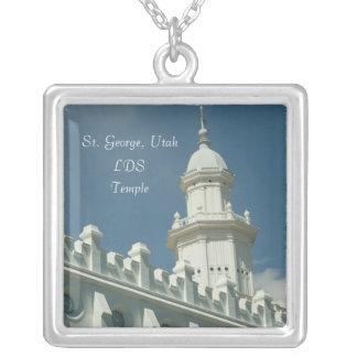 St George LDS tempel Silverpläterat Halsband