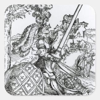 St George på hästryggen, 1507 Fyrkantigt Klistermärke