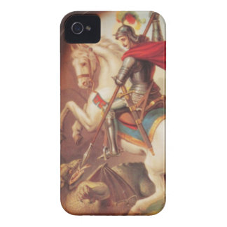 St George som dödar drakekonstmålningen iPhone 4 Case-Mate Skal