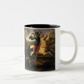 St George som slåss draken, Raphael, Raffaello Två-Tonad Mugg
