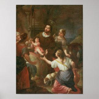 St. Isidore och mirakel på brunnen Poster