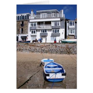 St Ives hamn & fartyg Hälsningskort