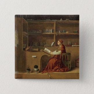 St Jerome i hans studie, c.1475 2 Standard Kanpp Fyrkantig 5.1 Cm