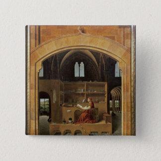 St Jerome i hans studie, c.1475 Standard Kanpp Fyrkantig 5.1 Cm