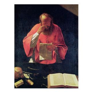 St Jerome läsning Vykort