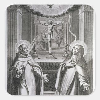 St John av kor och Stet Theresa av Avila Fyrkantigt Klistermärke