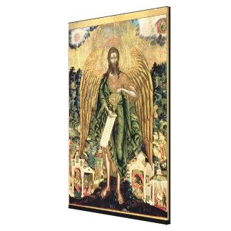 St John det baptistiskt, ängel av vildmarken Canvastryck
