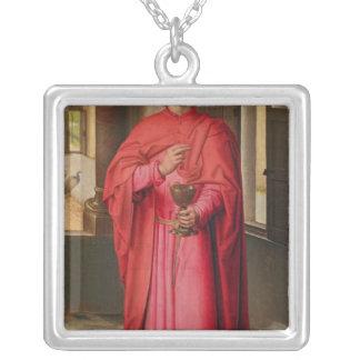 St John evangelisten Silverpläterat Halsband
