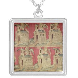 St John och de sju kyrkorna av Asien Silverpläterat Halsband